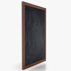 Chalkboard isolated on white background