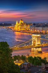 Printed kitchen splashbacks Budapest Budapest Hungary at Sunset