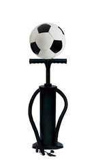 pump and football ball isolated