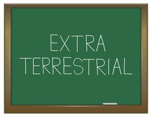 Extra terrestrial concept.