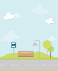 bus stop flat image