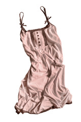 Crumpled dress isolated