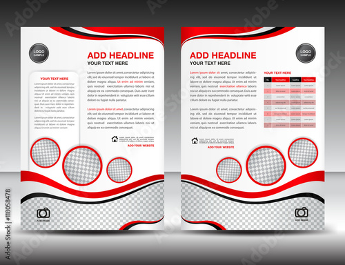Red business brochure flyer design layout template in a4 size red business brochure flyer design layout template in a4 size poster leafletads spiritdancerdesigns Images