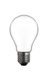 Empty Light Bulb on white