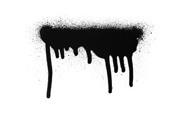 Black color spray paint on a white background paper Wall mural