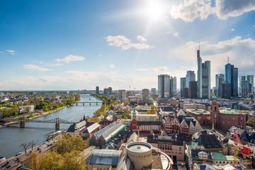 Skyline at center business district in Frankfurt, Germany