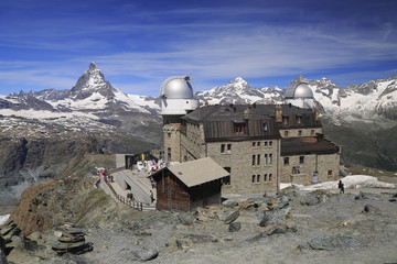 Matterhorn peak from Gornergrat Mountain, Switzerland