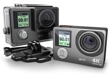 Action camera 4K  for extreme video recording 3D