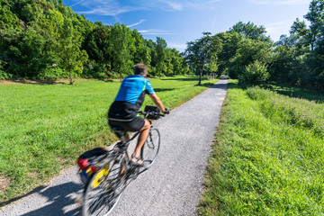 Radfahrer Weg Sommer Tour
