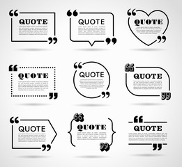 Vector Labels set for Text Quotes
