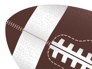 American Football Ball Up Close