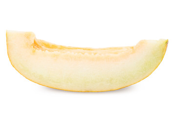 melon slice isolated on white background cutout.