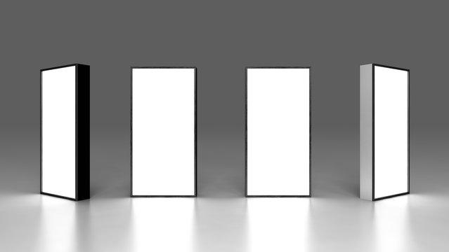 Lightbox On Dark Background 3D rendering