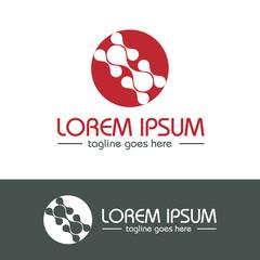 Molecule and Atom Logo Design Template v.5