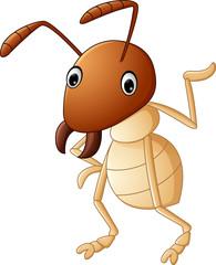 Cartoon funny termite presenting