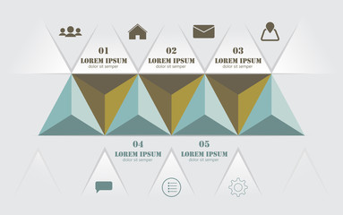 Modern 3d, infographics business triangle. Vector illustration.