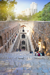 Printed kitchen splashbacks Delhi ruins of an ancient well Agrasen ki Baoli, allegedly 12th century. India. Delhi ..