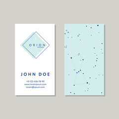 Business card template for Orion logo