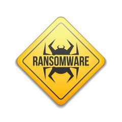 Ransomware Hazard sign