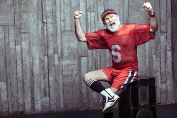 elderly age sport concept