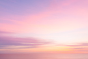 Poster Sea sunset Blurred sunset sky and ocean nature background
