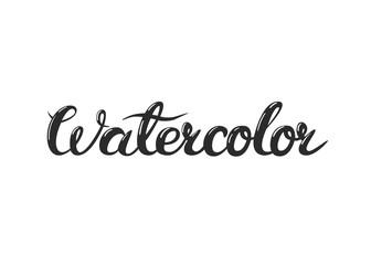 Vector hand lettering watercolor