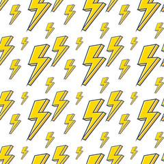 lightning bolt expertise seamless background