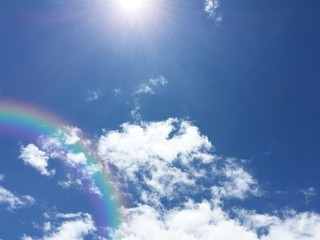 view on sky in day and see sky,cloud,sun