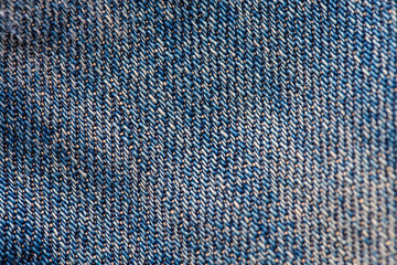 Close up macro jean cotton texture