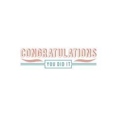 Congratulations Badge
