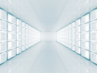 Abstract Futuristic Hall Architecture Background