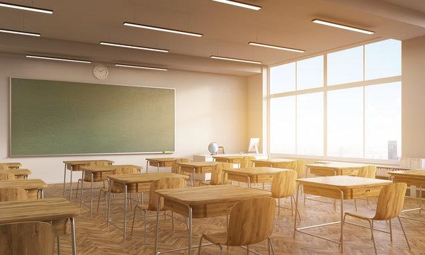 Vintage school interior