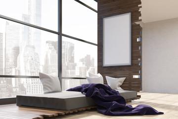Bedroom in big city