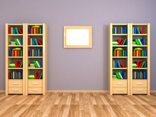 Bookcases at the all