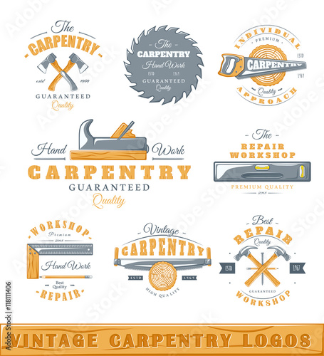 Vintage carpenter logo