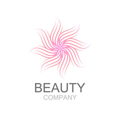 Abstract flower line decoration,beauty logo