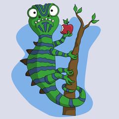 funny chameleon monster