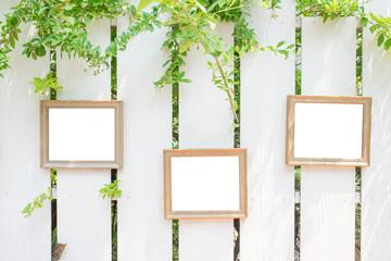 photo frame on the fences