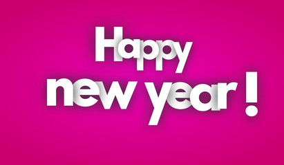 happy new year letters vector word banner sign