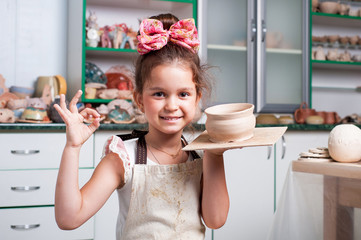 Pottery making girl