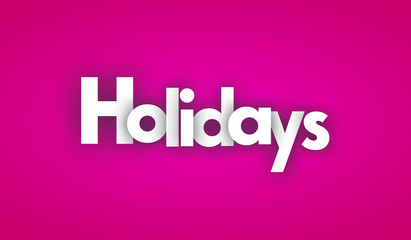 holidays letters vector word banner sign