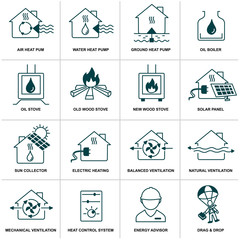 home energy icon set