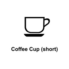 short coffee cup icon