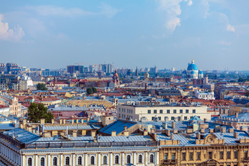 Aerial View from Isaac Cathedral, Saint Petersburg