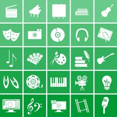 icons arts green