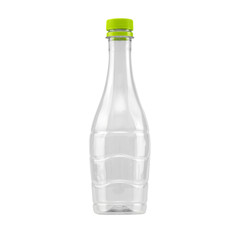 plastic bottle for recycling isolated on white background.