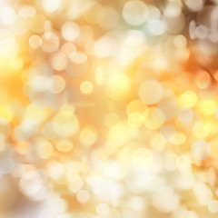 Golden yellow holiday illustration background.