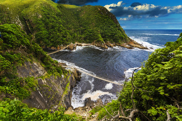 Foto op Canvas Zuid Afrika Republic of South Africa. Eastern Cape province. Tsitsikamma National Park - Storms River Mouth