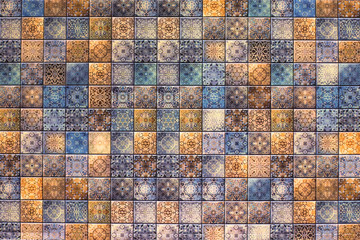 abstract mosaic tile pattern with kitchen, bath and toilet