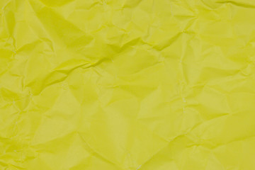 texture of crumpled yellow paper.